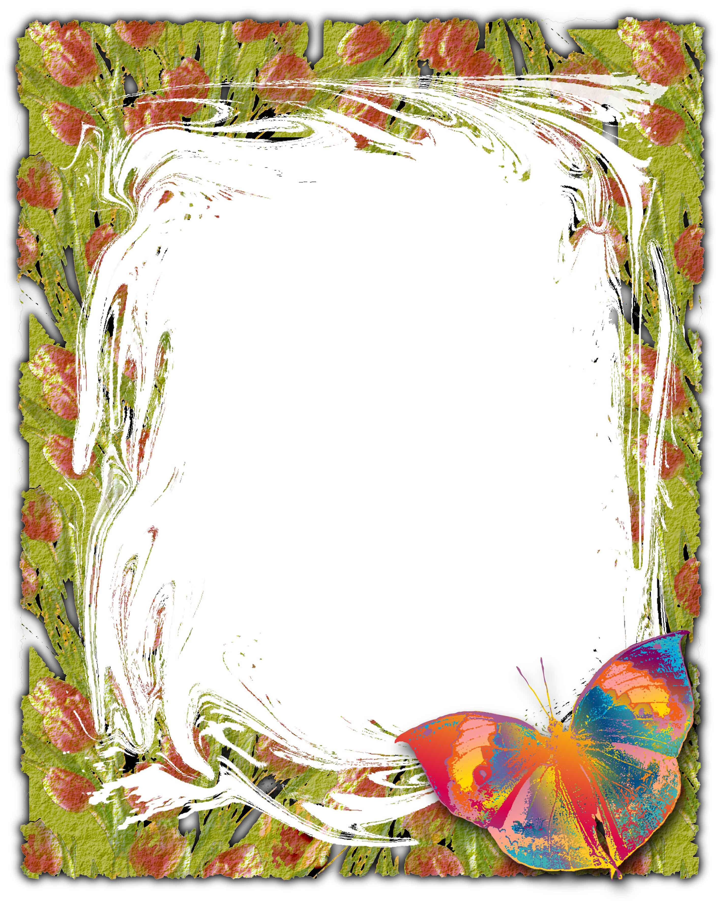 Декоративная рамка с бабочкой