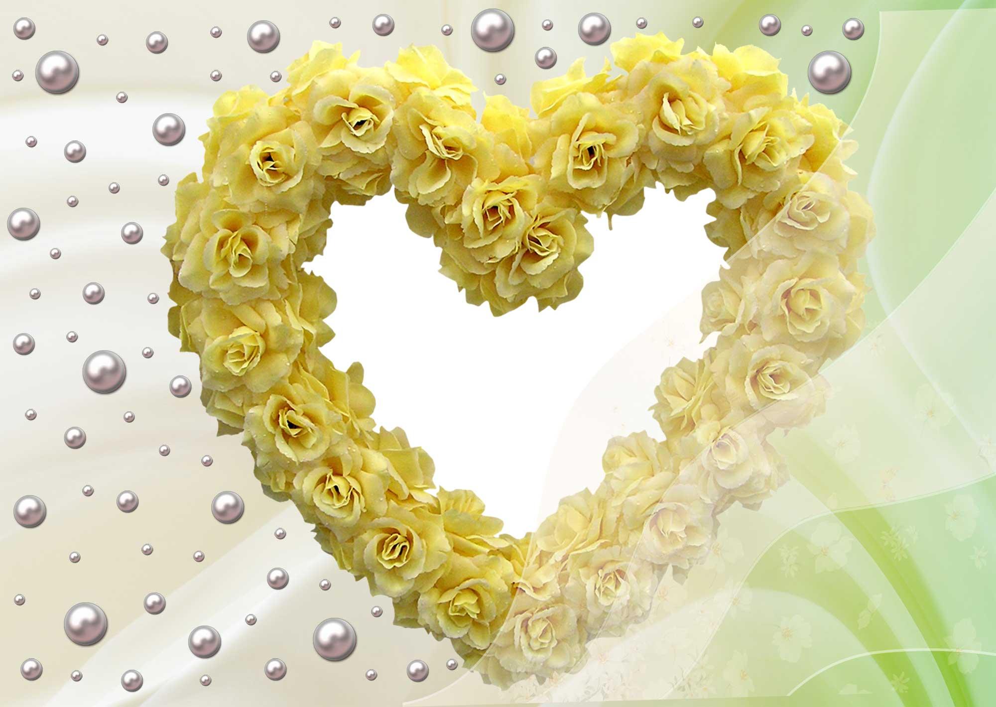 Рамка из цветов для свадьбы
