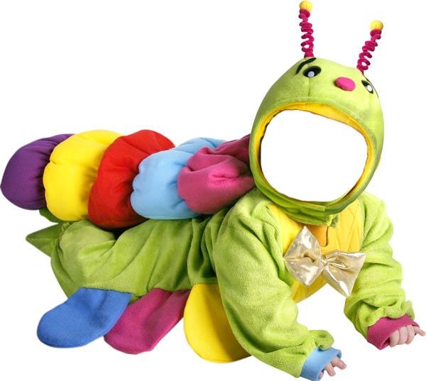 Детский костю для фотошопа гусеница