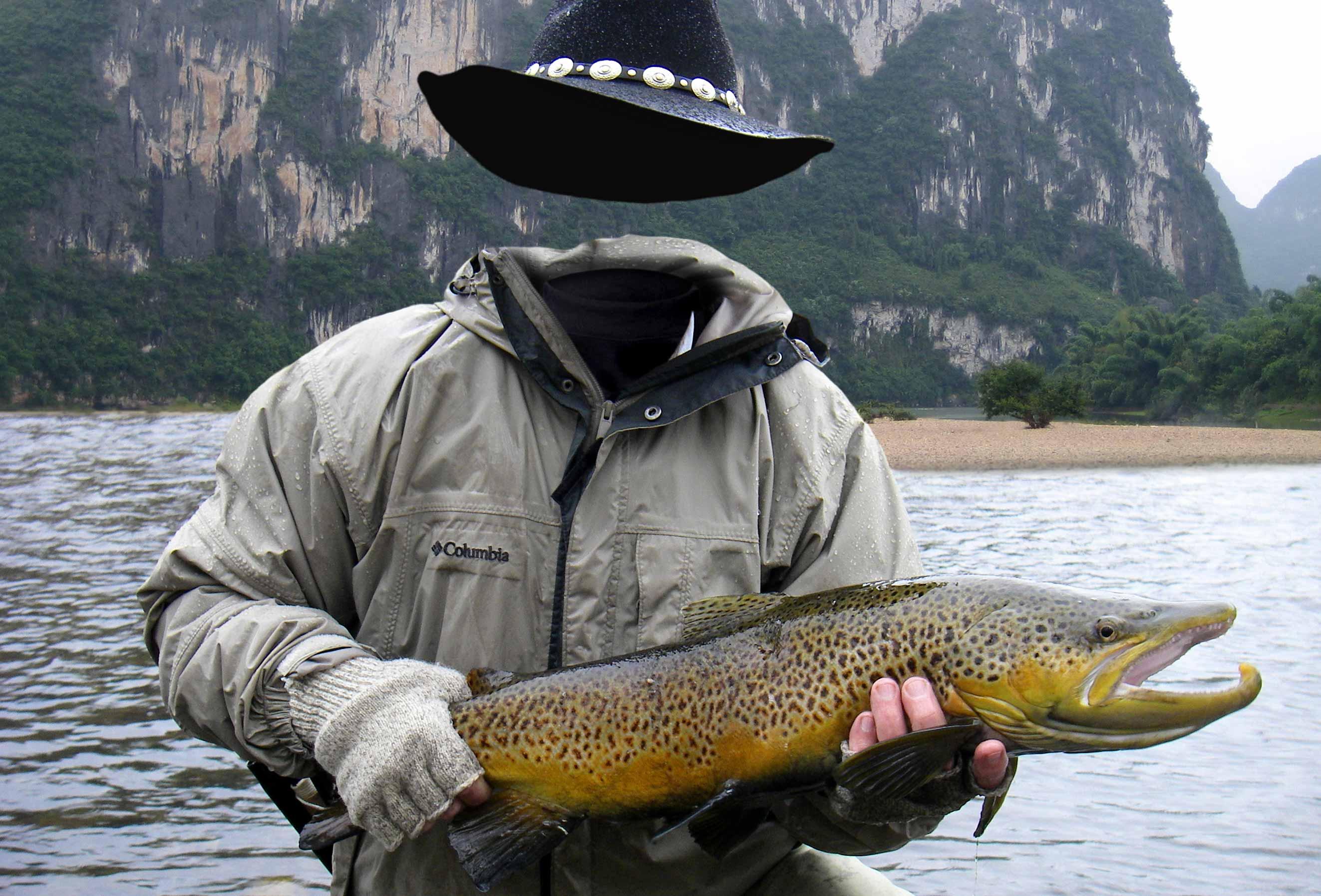 Шаблон для фотошопа рыбак