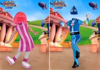 Шаблон для Photoshop – Lazy Town