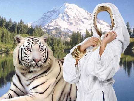 Шаблон для фотошоп девушка и белый