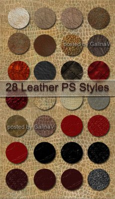 Стили для Photoshop Кожа | Leather Styles