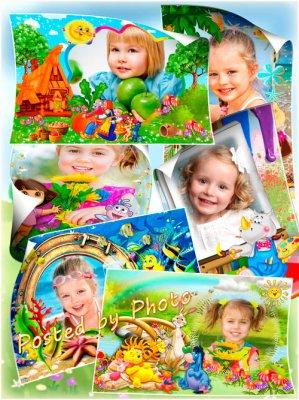 Детские рамки для фотошоп с героями мультфильмов » LibFoto ...
