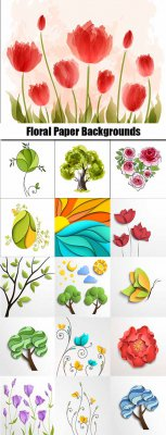 Floral Paper Backgrounds