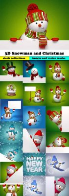 3D Snowman and Christmas